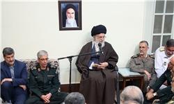 دیدار جمعی از فرماندهان ارشد نیروهای مسلح با رهبر انقلاب
