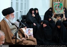 بیانات در دیدار جمعی از خانوادههای شهدای مدافع حرم