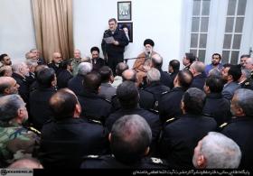 دیدار جمعی از فرماندهان نیروی انتظامی با رهبر انقلاب