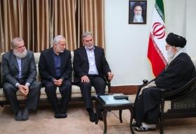 دیدار دبیرکل جنبش جهاد اسلامی فلسطین و هیئت همراه با رهبر انقلاب