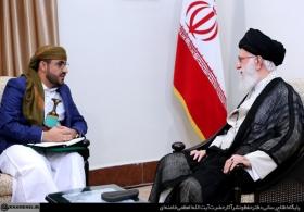 دیدار سخنگوی جنبش انصارالله یمن و هیئت همراه با رهبر انقلاب